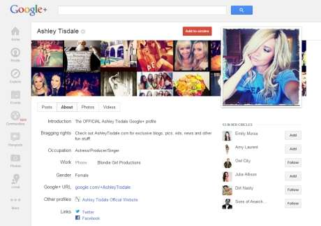 Top 10 most followed users on google+