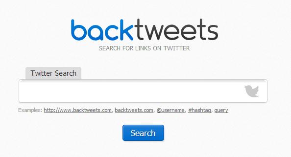 backtweets tool
