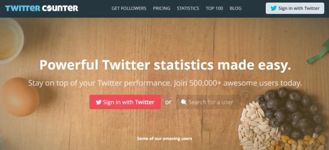 twittercounter tool