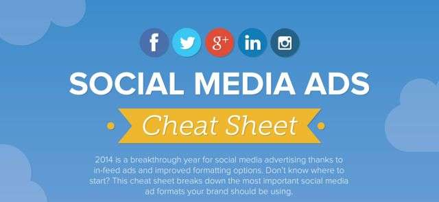 The Ultimate Social Media Ad Image Sizes Cheat Sheet 2014