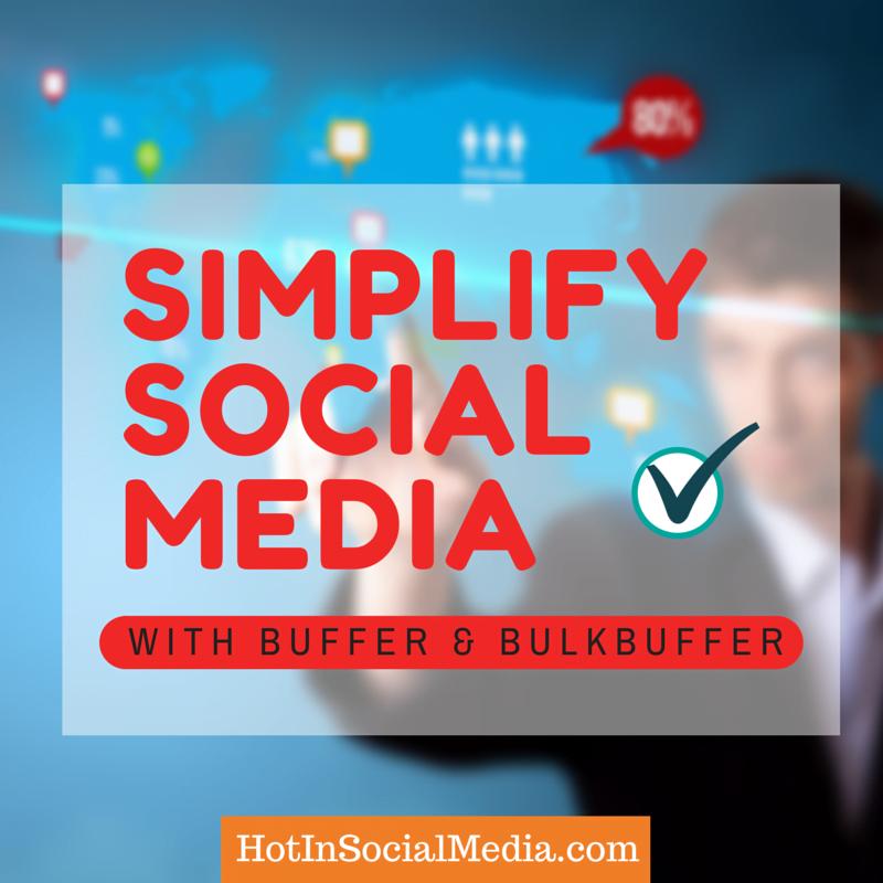 simply social media marketing using Buffer
