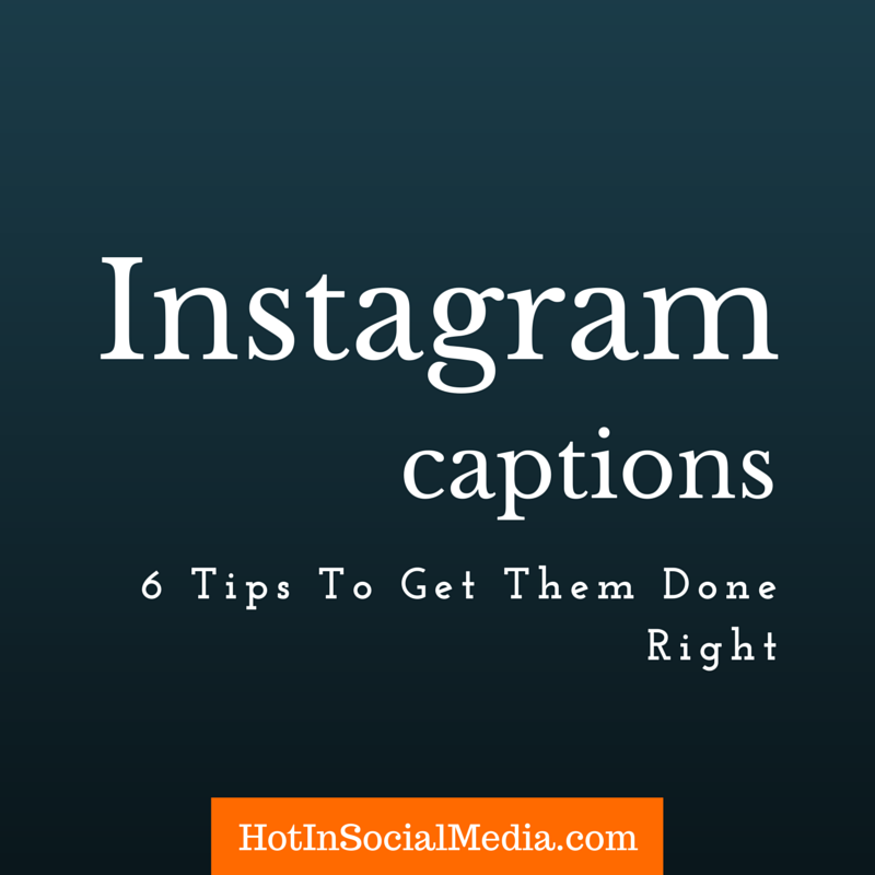 writing instagram caption