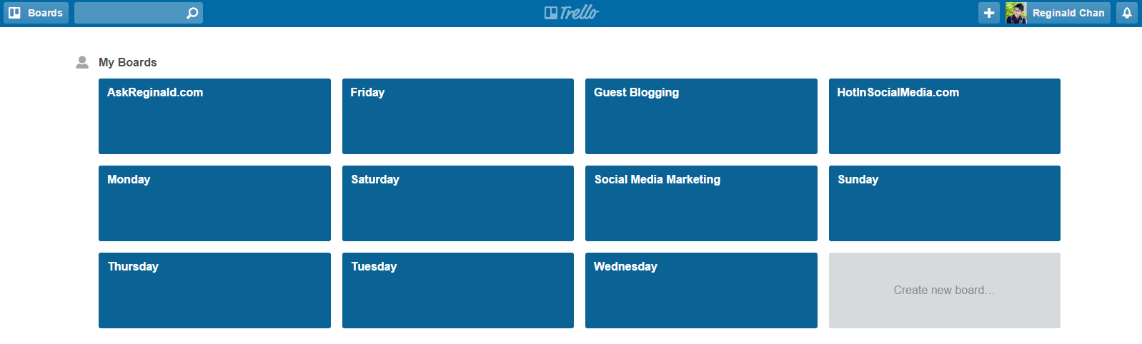Creating boards on Trello