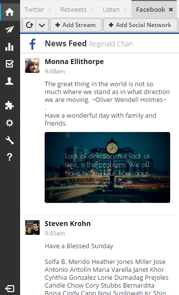 integrating facebook into Hootsuite