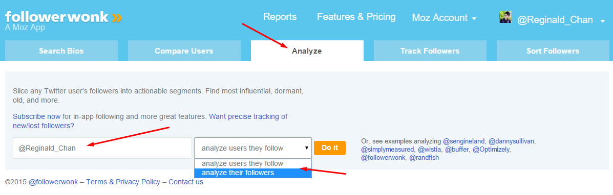 Analyze followers