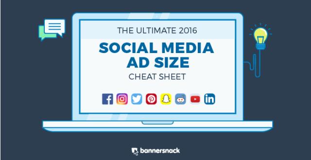 social media ad size 2016