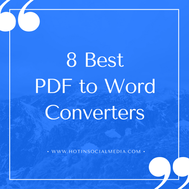 8 Best PDF to Word Converters-min
