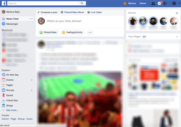 New Facebook Feature: Facebook Stories on Desktop
