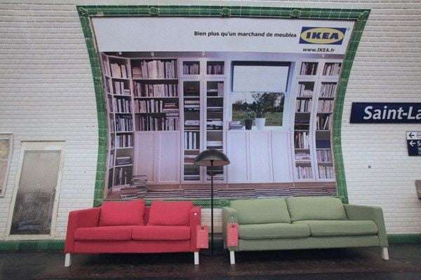 Ikea subway ad
