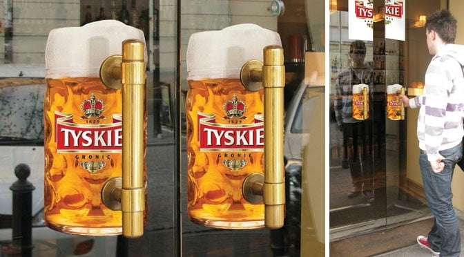 Tyskie Beer Advertisement