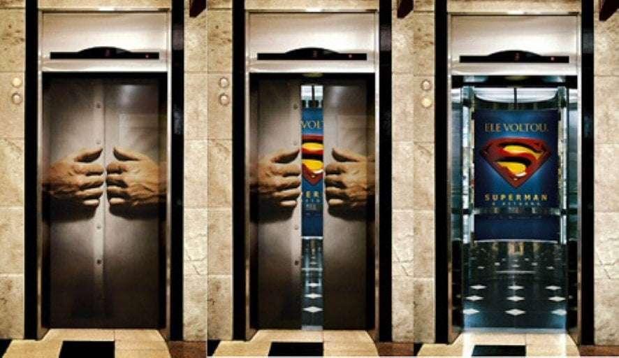 Superman Elevator Ad