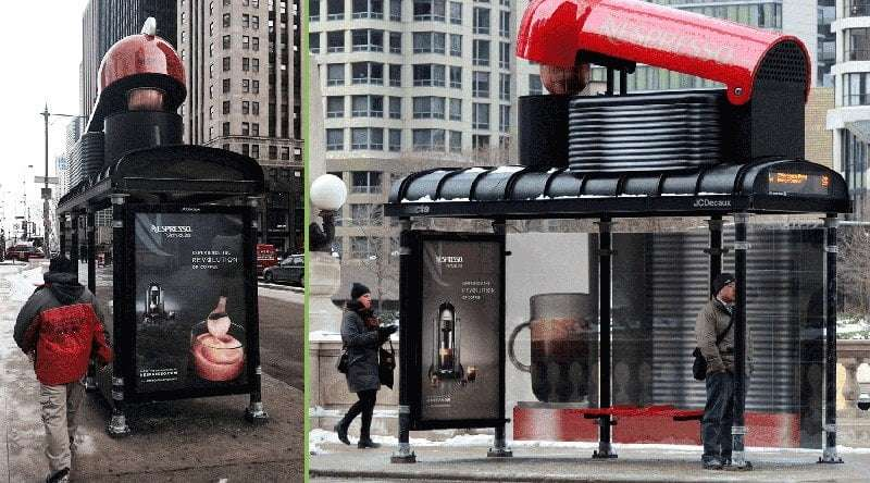Nespresso billboard