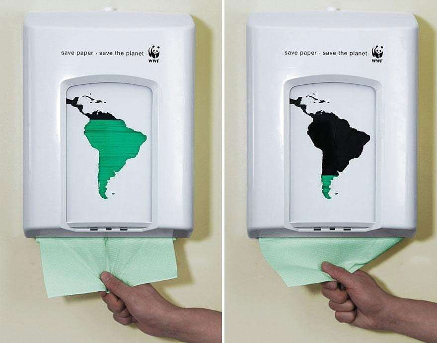 WWF save paper campaign