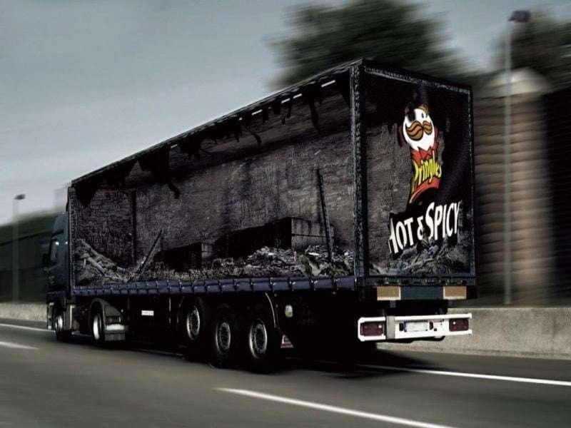 Pringles truck ad