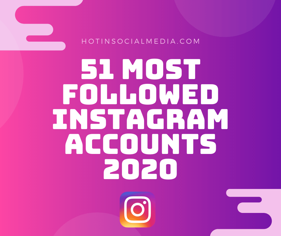 51 Most Followed Instagram Accounts of 2020 [A Comprehensive List]