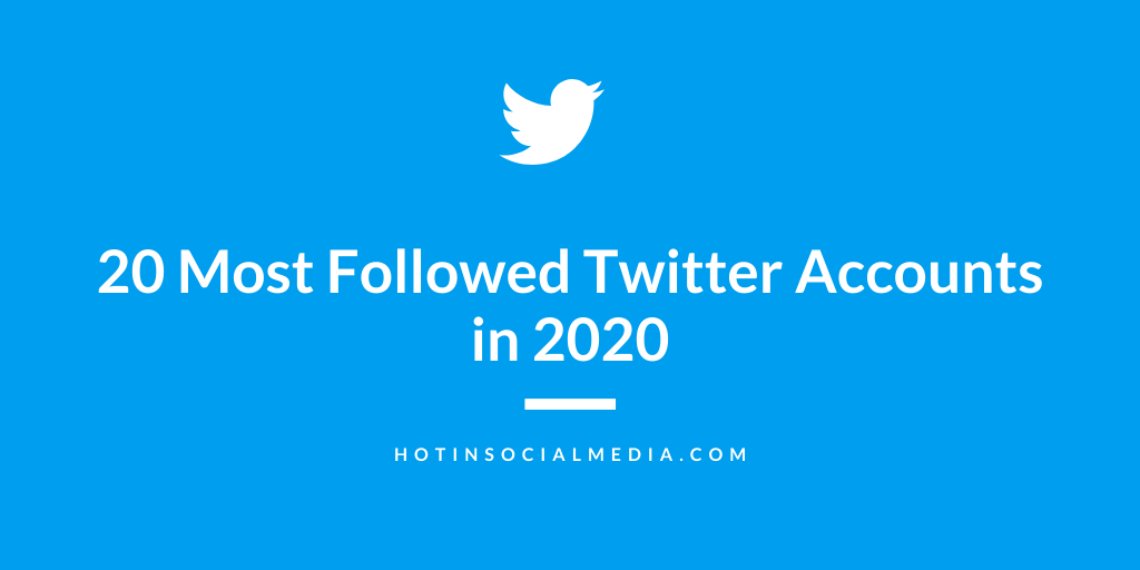 20 Accounts With Most Twitter Followers in 2020