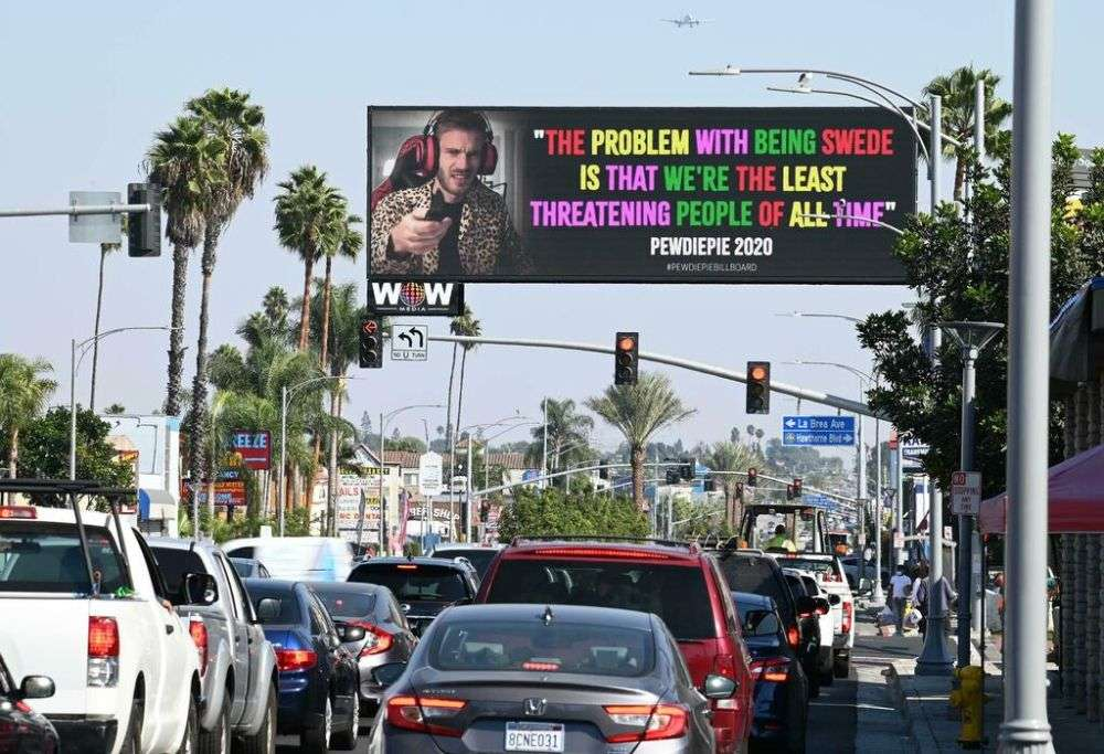 pewdiepie billboard